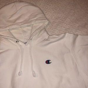 white champion reverse weave sweatshirt